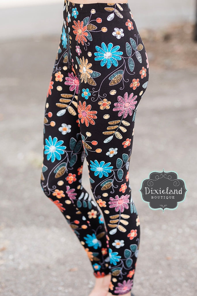 Crazy Daisy Leggings
