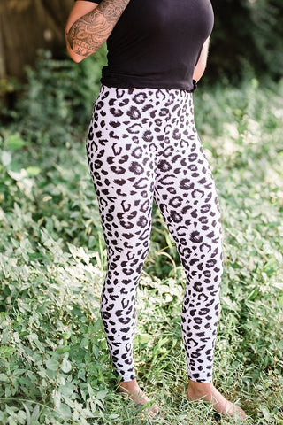 White Leopard Leggings