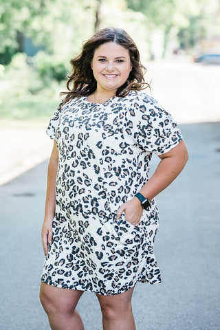 Ivory Leopard Terry Dress