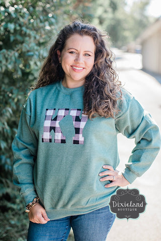 Spruce & Checkered KY Sweatshirt