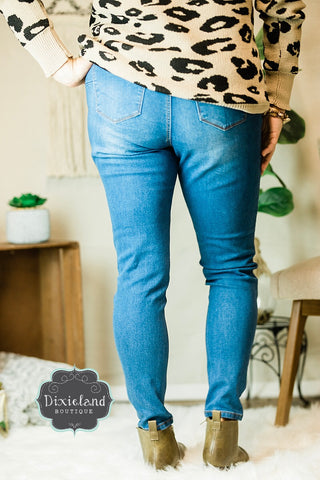 {Plus} Wax Brand Button Fly Jeans
