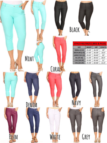 Capri Jeggings (Choose Color)