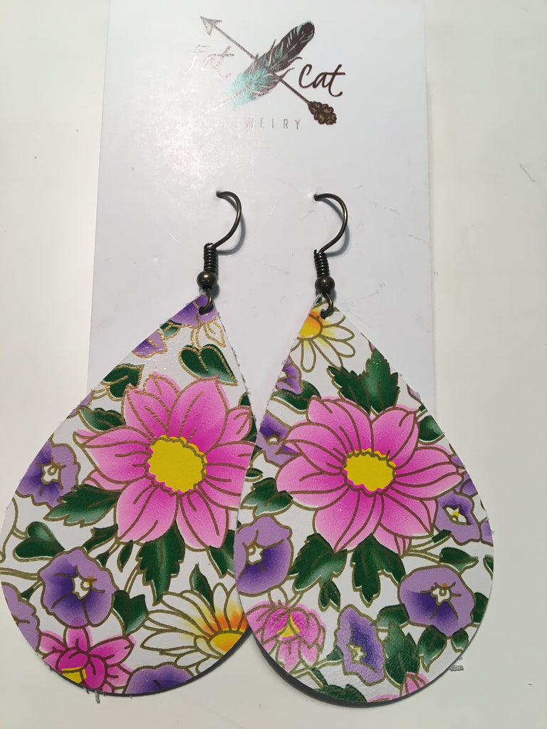 Fde 1255 Leather Earrings