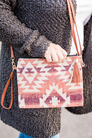 Red Southwest Tapestry Bag