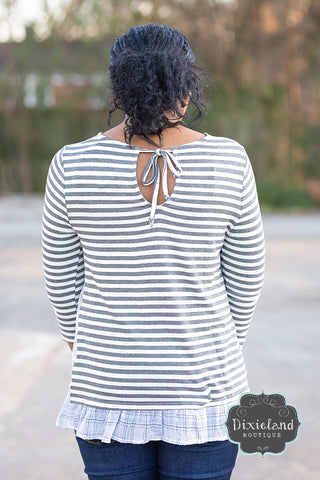 Striped Top With Plaid