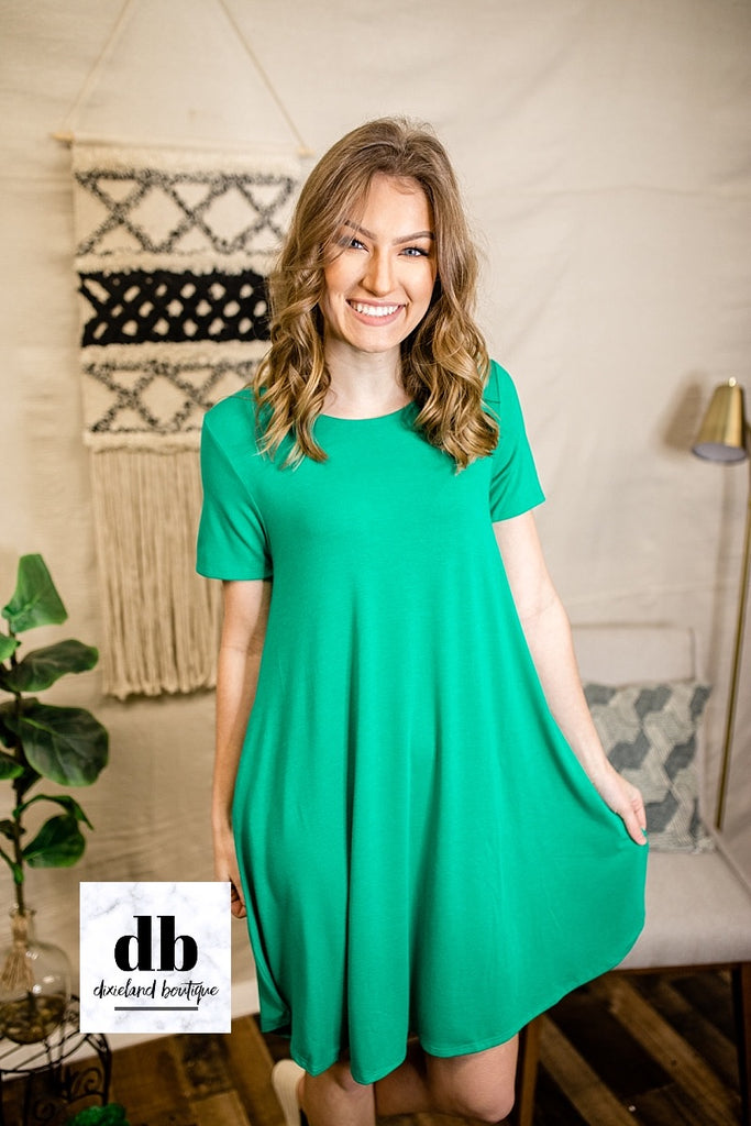 Kelly Green T-Shirt Dress