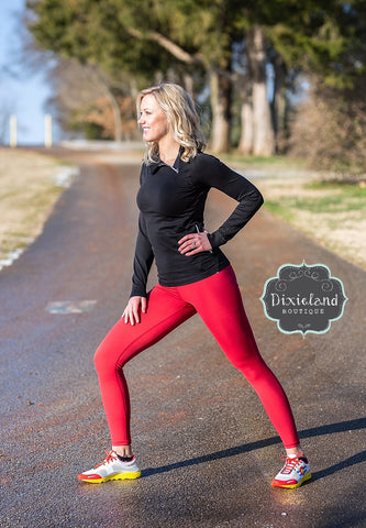 Crimson Active Leggings