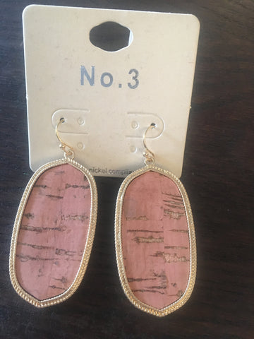Mauve Cork Earrings
