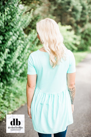 Mint Babydoll Top