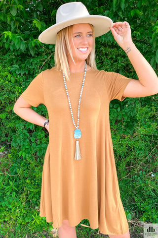 Coffee T-shirt Dress