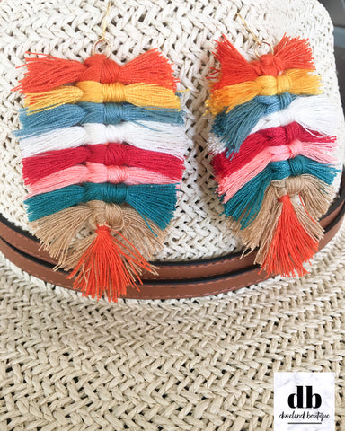 Colorful Macrame Earrings