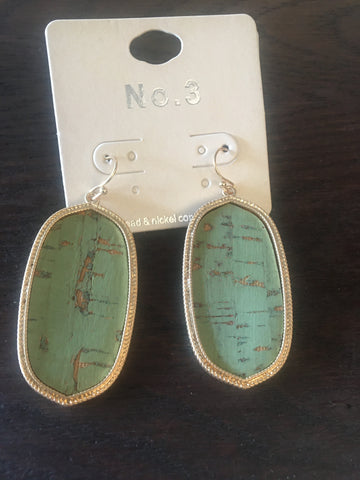 Mint Cork Earrings