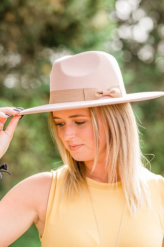 Light Taupe Panama Hat