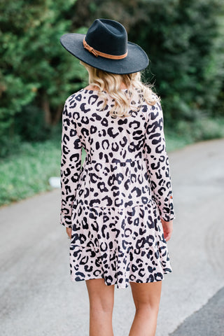 Blush Leopard Tunic Dress
