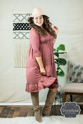 Paprika Tiered Dress