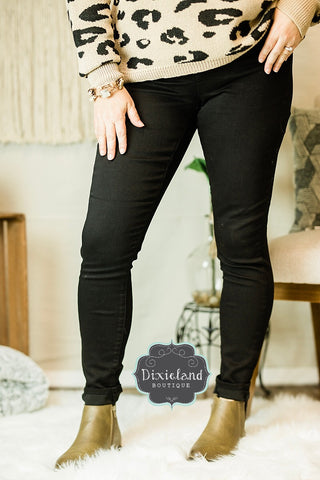 {Plus} Wax Brand Black Jeans