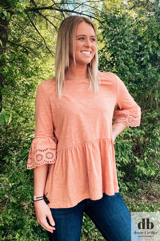 Ginger Cotton Bell Sleeve Top