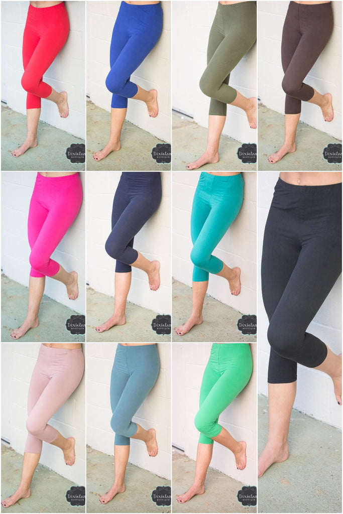 Capri Soft Solid Leggings