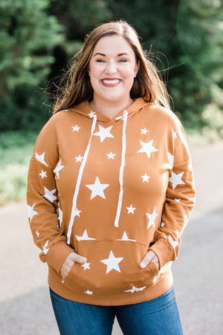 Brown Sweatshirt with Stars