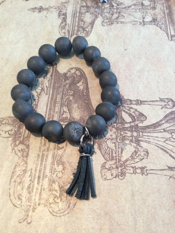 Southern Stone Co. Stone & Leather Bracelet