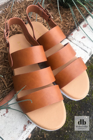 The Plaza Tan Sandals