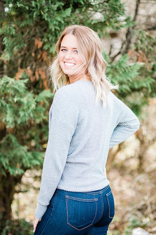 Gray Twist Sweater