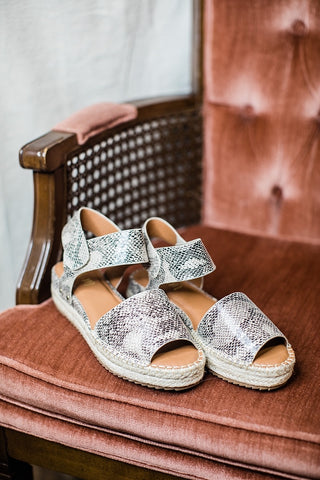 Valley Snakeskin Sandals