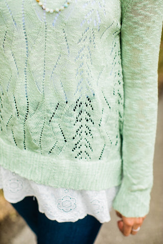 Spring Breeze Sweater - Mint