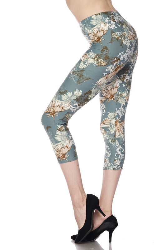 Light Blue Butterfly Leggings