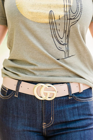 Double G Belt - taupe