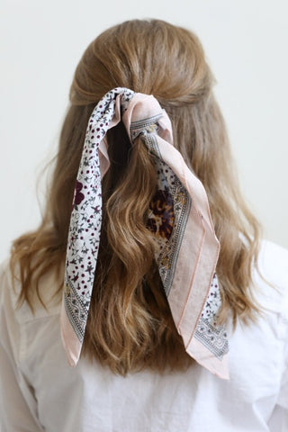 Orchid Floral Hair Scarf