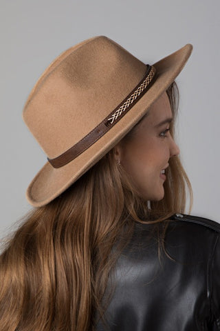Wool Panama Hat - Tan