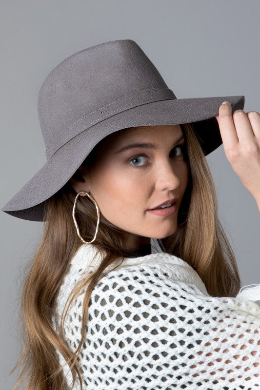 Wool Panama Hat - Gray