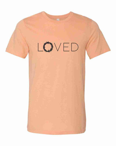 Loved Tee - Heathered Peach