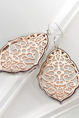 Rose Gold Moroccan Earrings
