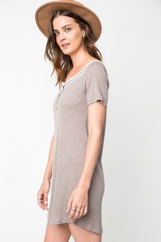 Taupe T-shirt Dress