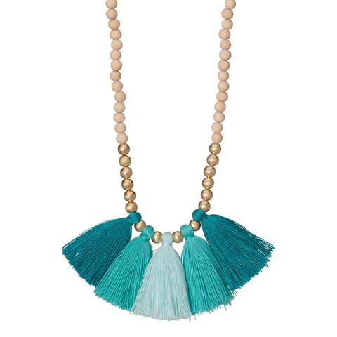 Turquoise Ombre Fan Necklace