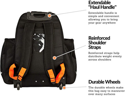 Vic Wheeled Junior Hockey Equipment Backpack Bag