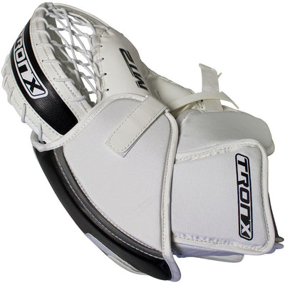TronX MT2 Senior Hockey Goalie Catcher (White/Black)