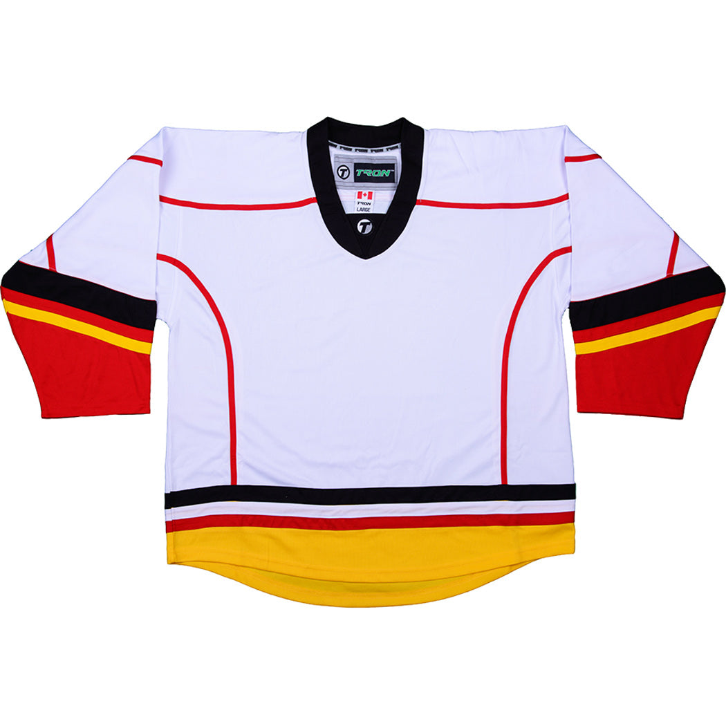 info for eb93d 5c002 Calgary Flames Hockey Jersey - TronX DJ300 Replica Gamewear