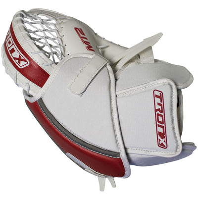 TronX MT2 Senior Hockey Goalie Catcher (White/Red)