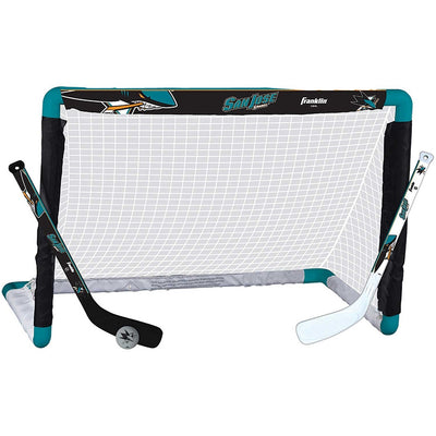 Franklin San Jose Sharks NHL Mini Hockey Goal, Stick & Ball Set