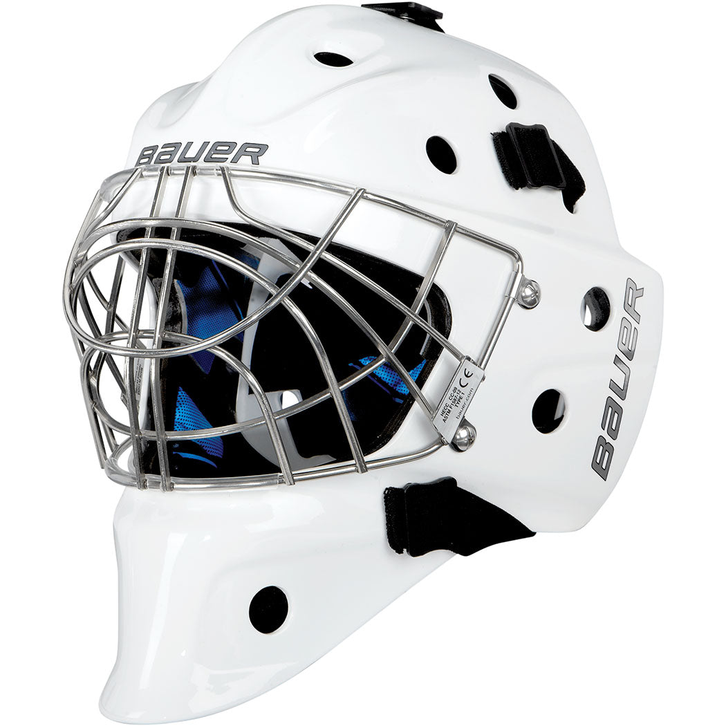 Bauer Nme 5 Hockey Goalie Mask White Hockeytron Com