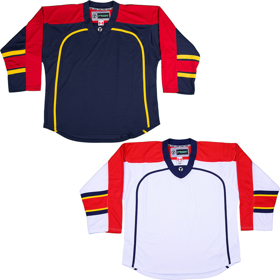Florida Panthers Hockey Jersey - TronX DJ300 Replica Gamewear e92947d76