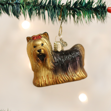 "Handcrafted Glass ""Favorite Dog"" Ornaments"