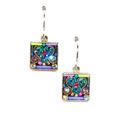Firefly Geometric Small Square Earrings