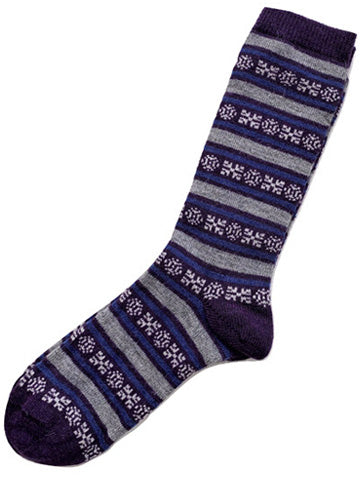 Alpaca Geo Striped Socks