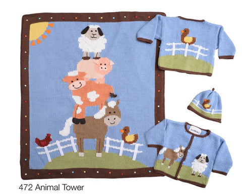 Artwalk Animal Tower Stroller Blanket
