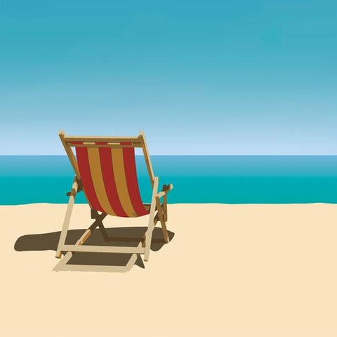Dana Heacock Beach Chair Print