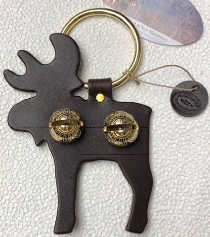 Moose Brass Bell Door Hanger